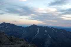 Sunrise on Mt. Yale ridge line