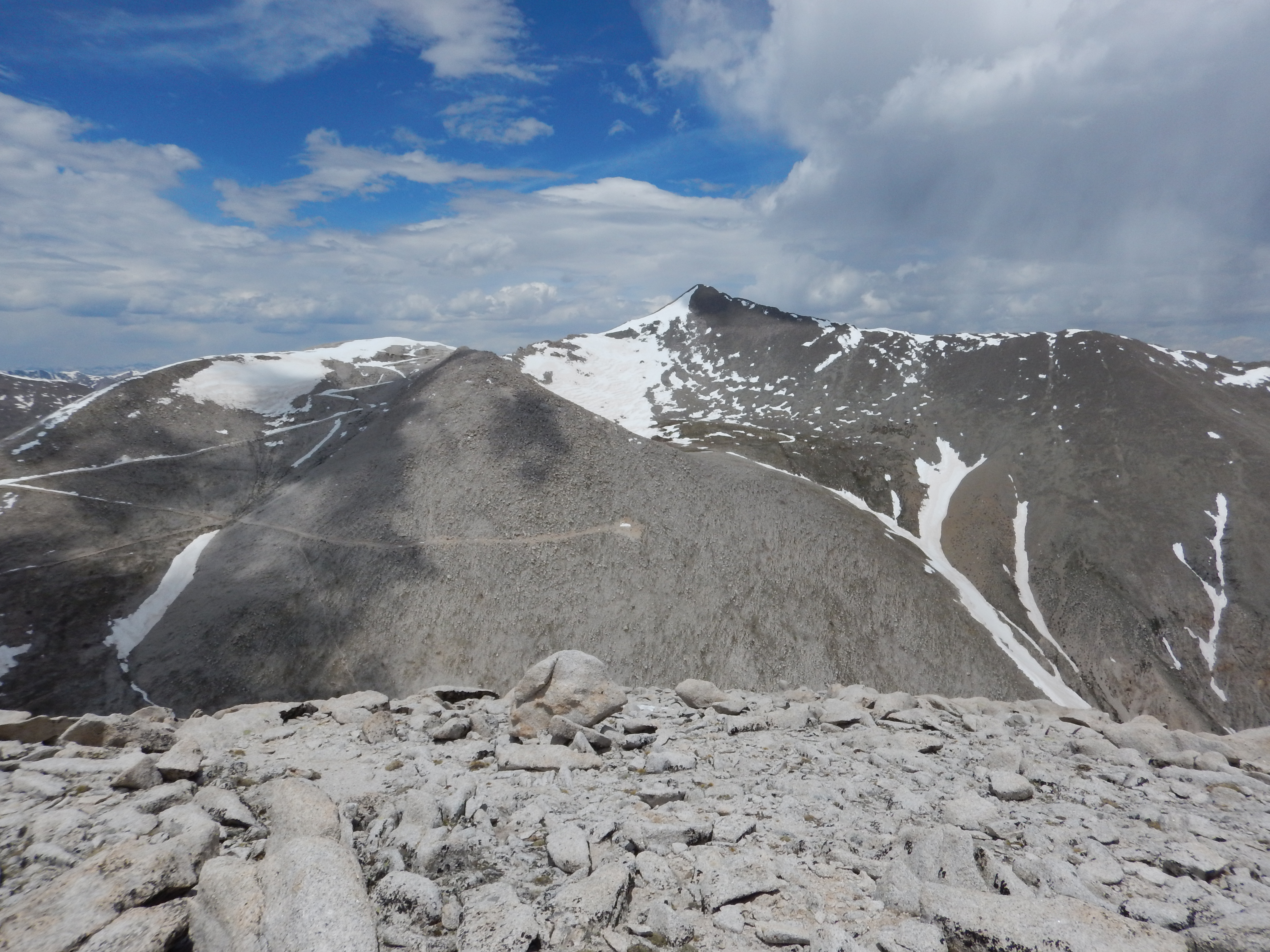 Looking towards Mt. Antero from Mt. White