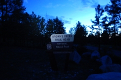 Browns Creek Trailhead sign