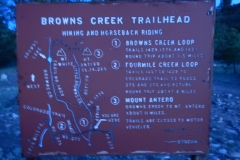 Sign showing Browns Creek + Littles Browns Creek loop