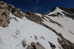 Ridge line to the summit of Mt. Antero.