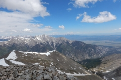 On Mt. Antero, looking towards Mt. Princeton.