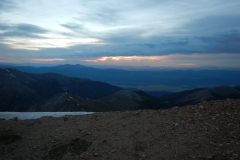 Sunrise on Mt. Yale ridge line