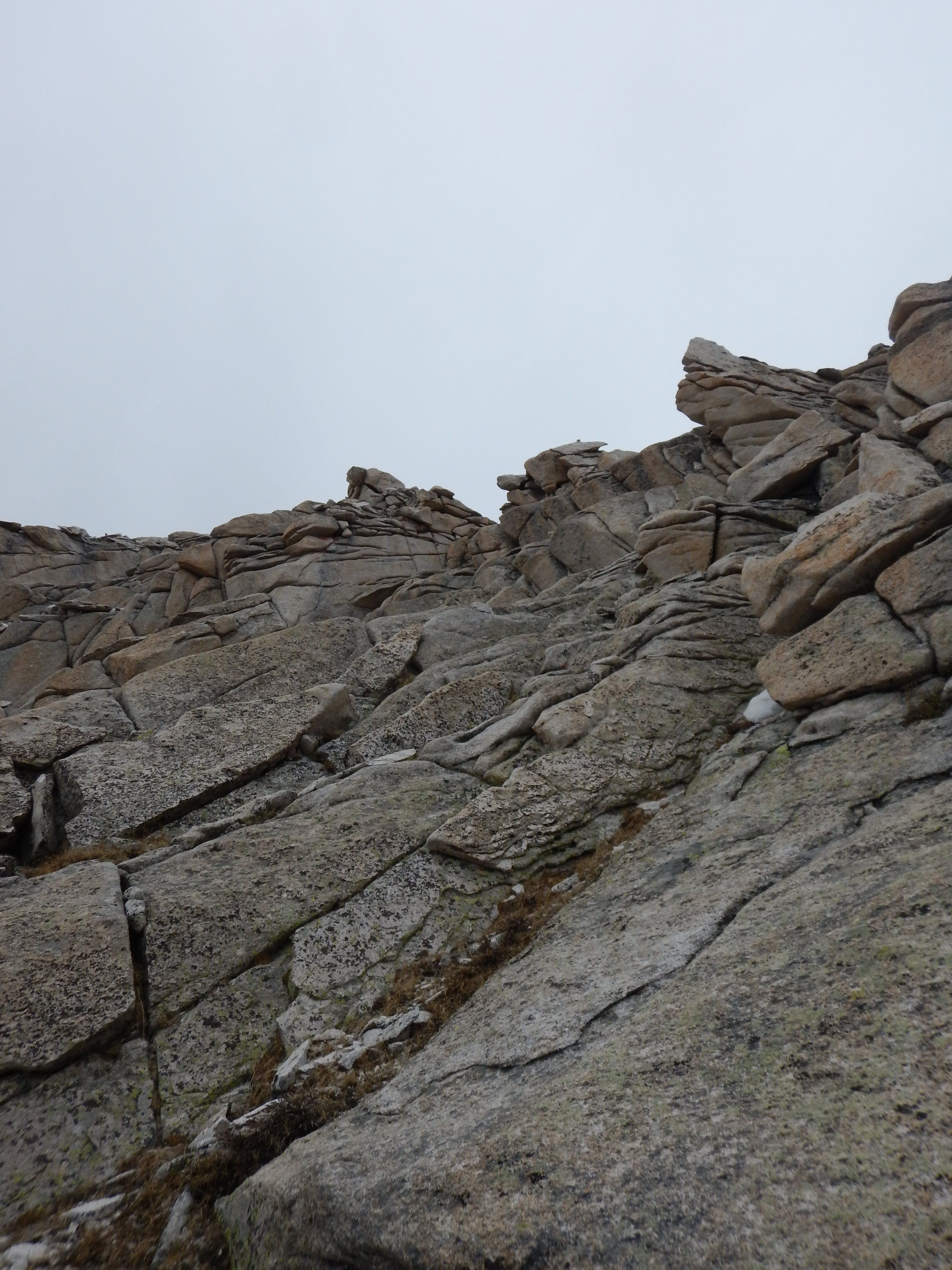 A little bit further on my ascent. I had to use my hands and scramble a lot.